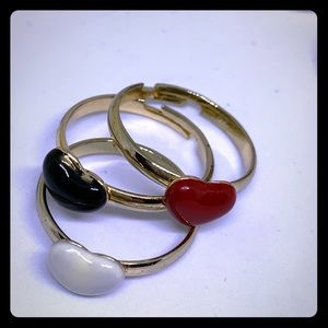 Stackable Ceramic Heart Rings - [JW-114]